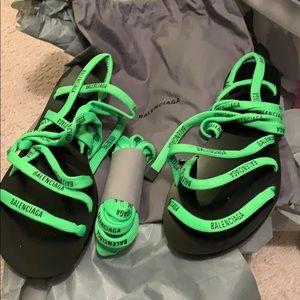Balenciaga lime green sandals